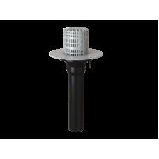 Воронка обогреваемая с корпусом из ПВХ и листвоуловителем VO-PVC 110x720