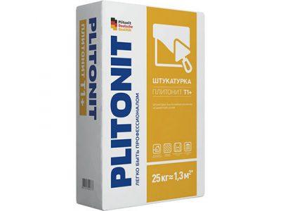Штукатурка цементная Плитонит T1+ выравнивающая 25 кг