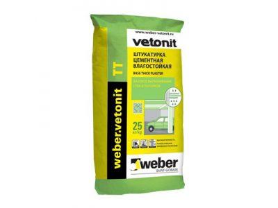Штукатурка цементная Weber-Vetonit TT серый 25 кг