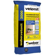 Пол наливной Weber-Vetonit 3000 20 кг