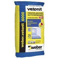 Ровнитель для пола быстротвердеющий Weber-Vetonit 6000 25 кг