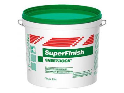 Шпатлевка универсальная Sheetrock SuperFinish  3 л / 5 кг