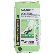 Шпатлевка полимерная Weber-Vetonit LR + белый 20 кг