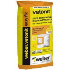 Клей для плитки и керамогранита Weber-Vetonit easy fix 25 кг