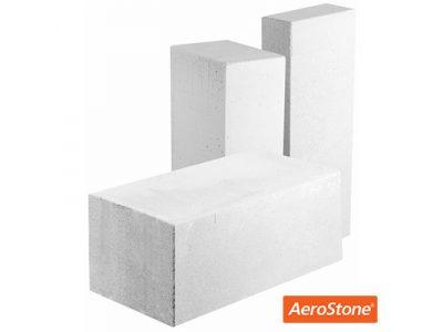 Блок из ячеистого бетона Aerostone газосиликатный D400 625х200х300 мм